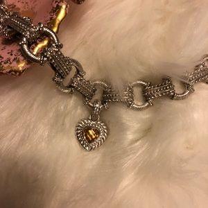Judith Ripka chain link citrine bracelet
